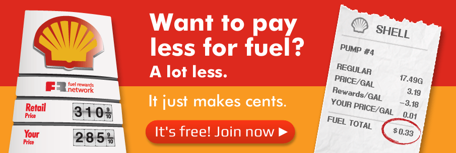 Shell receipt Fuel Rewards Network