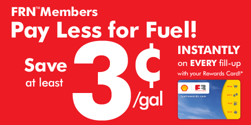 FRN Members pay less for fuel! Save at least 3¢/gal