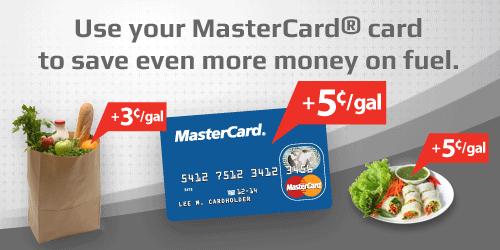 Use your MasterCard® card to save even more money on fuel.